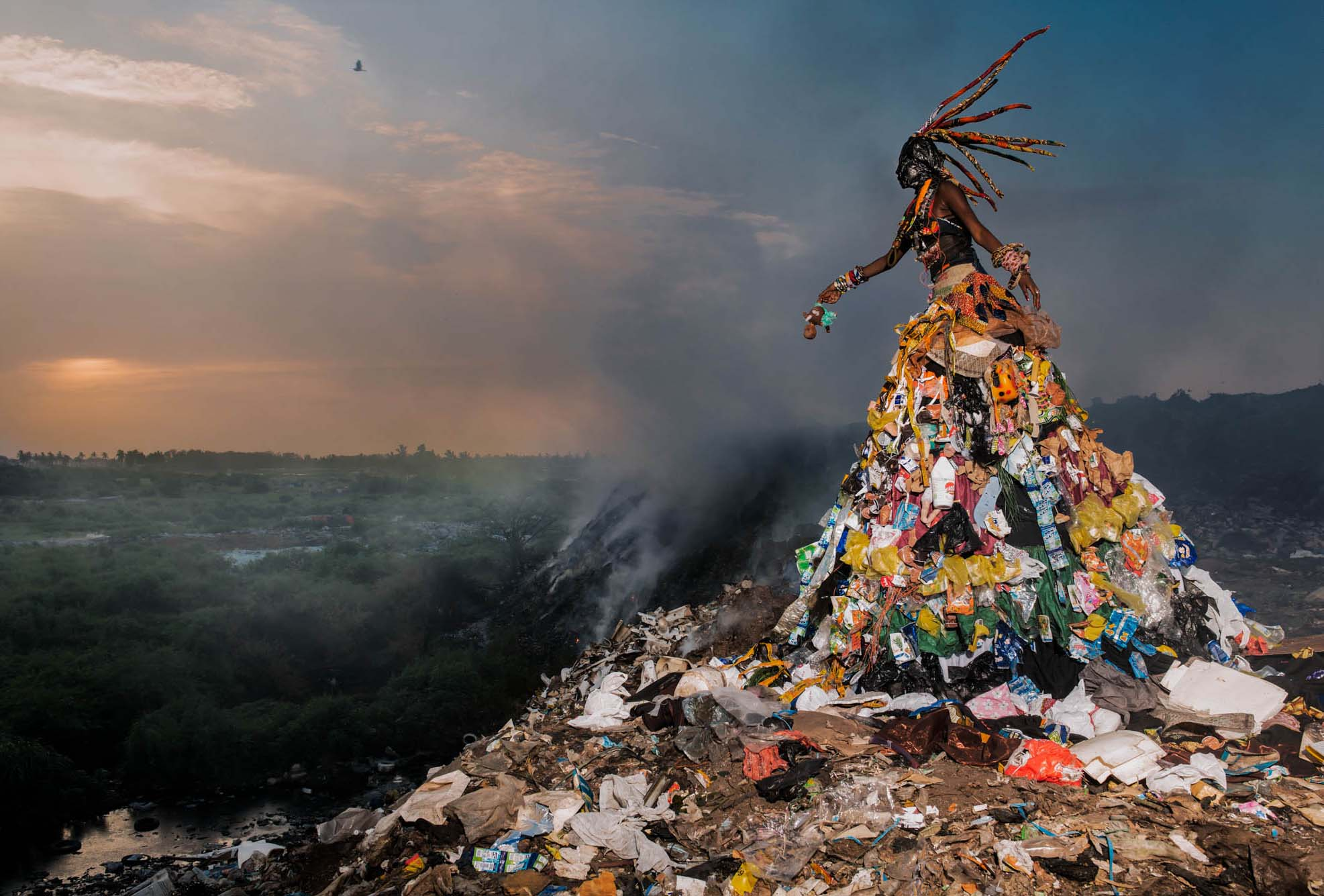 Fabrice Monteiro (Belgium, b. 1972) The Prophecy, Untitled #1, 2014. Digital photograph, 47 1/4 x 31 1/2 in. Museum purchase, Karl E. Weston Memorial Fund, M.2016.2