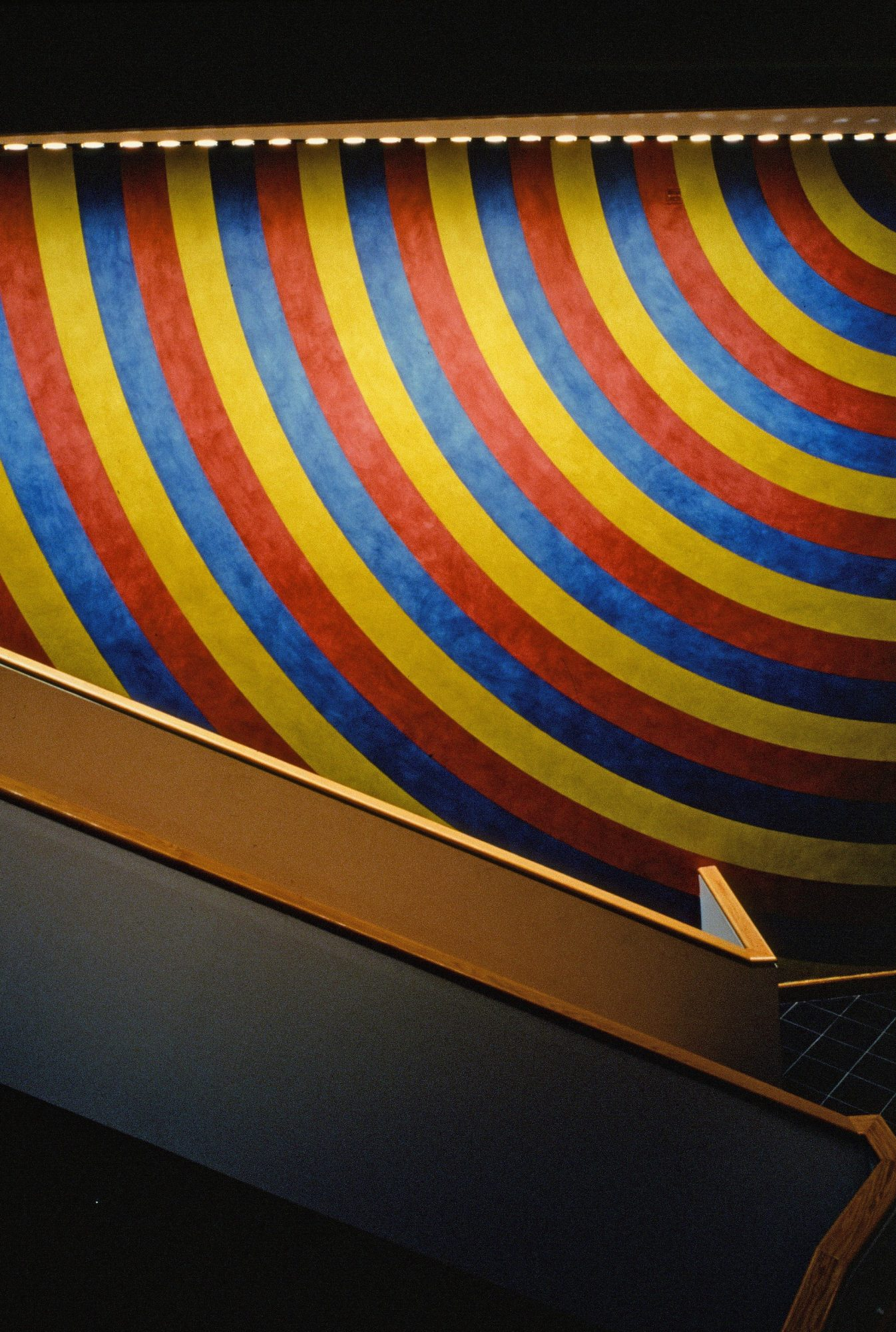 Sol LeWitt, Wall Drawing #559, Installed in WCMA atrium 1988.