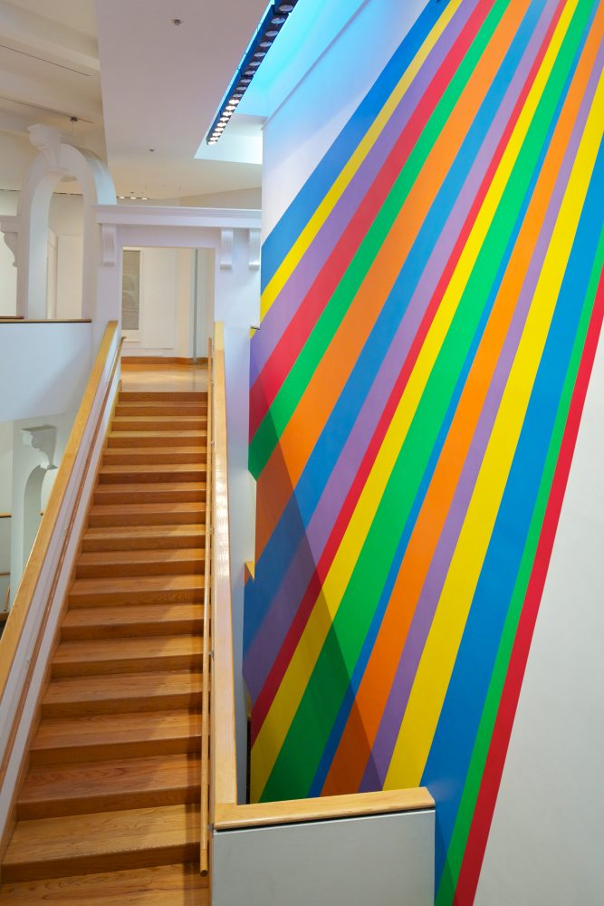 Sol LeWitt, Wall Drawing #959, Installed in WCMA atrium 2001.