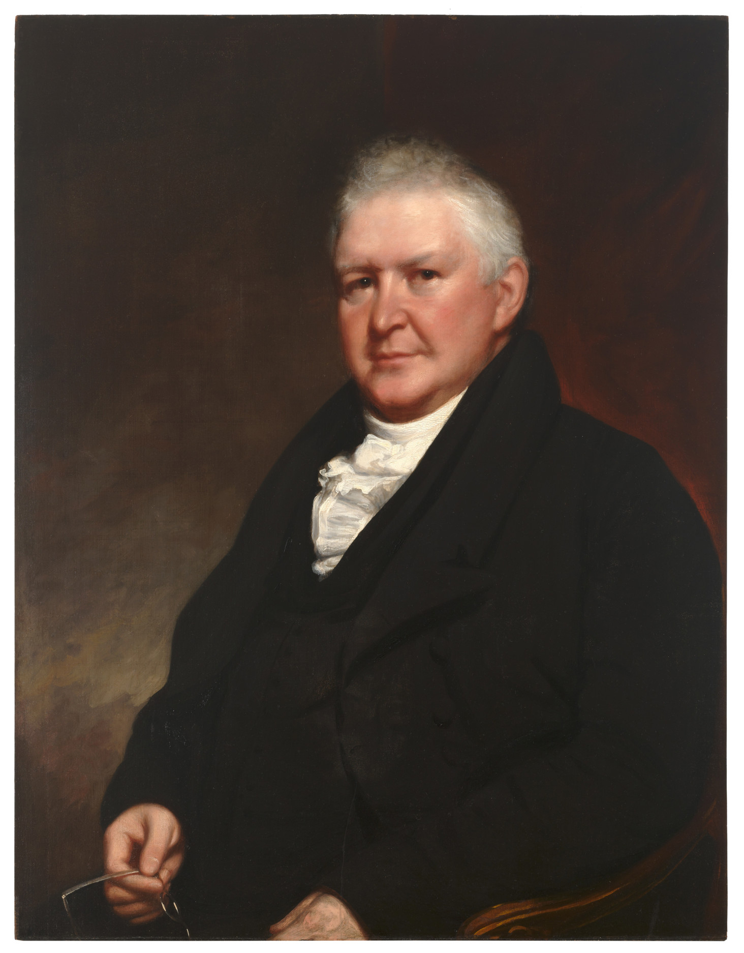 Waldo & Jewett (American ; 1783-1874), Portrait of Edward Dorr Griffin (1770-1837), Third President of Williams College 1821-36, Professor 1808-22, ca. 1821. Oil on panel, 32 11/16 x 25 1/2 in. Museum purchase, with funds provided by an anonymous donor. (86.25.1)