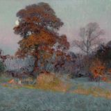 Robert Vonnoh (American, 1858–1933), Frosty Morning, c. 1904. Oil on canvas, 34 × 40 in. Gift of Danielle and Michael Barger in memory of Gisele and Harold Jaffe, M.2014.18