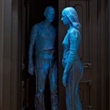 George Segal (American, 1924-2000), Couple in Open Doorway, 1977. Plaster, paint, wood, metal, 96 × 69 × 52 in. Gift of The George & Helen Segal Foundation, Inc. M.2014.20