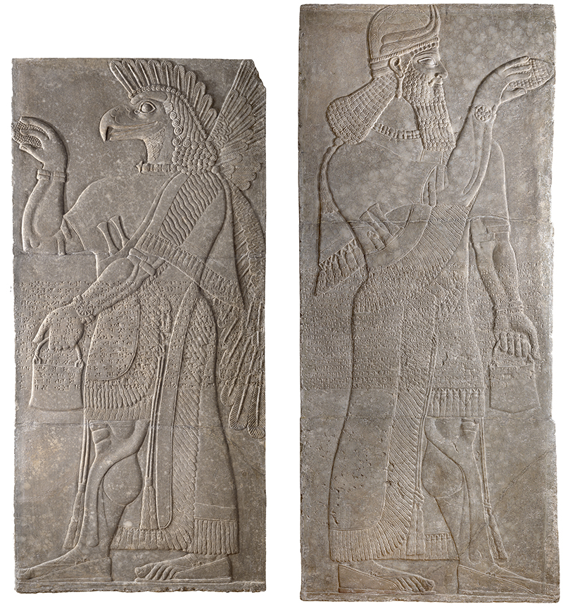 Assyrian, Winged Guardian Spirit and Assyrian, Guardian Spirit