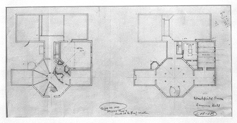 Drawings showing 1937 expansions adding three gallery spaces.