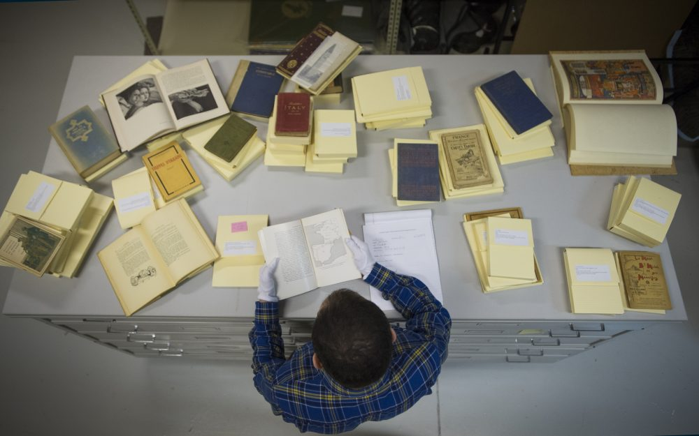 Eric Shannon, Digital Imaging Assistant, preparing objects for cataloguing and digitization.