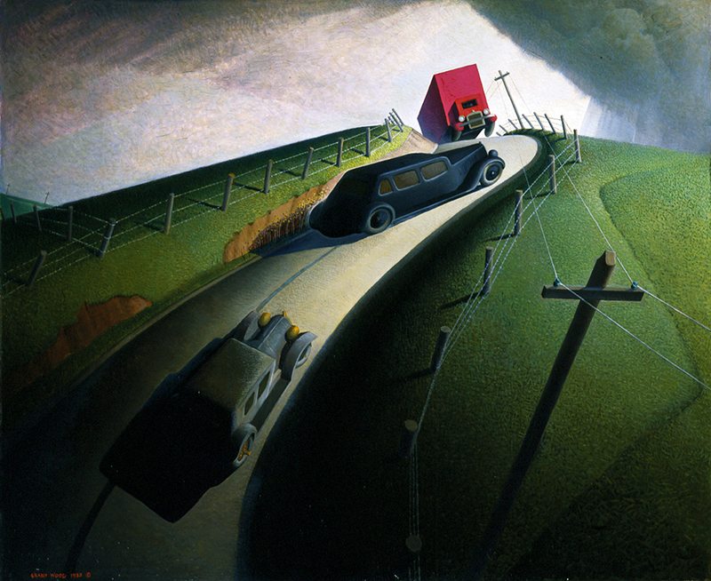 Grant Wood (American, 1892–1942) Death on Ridge Road