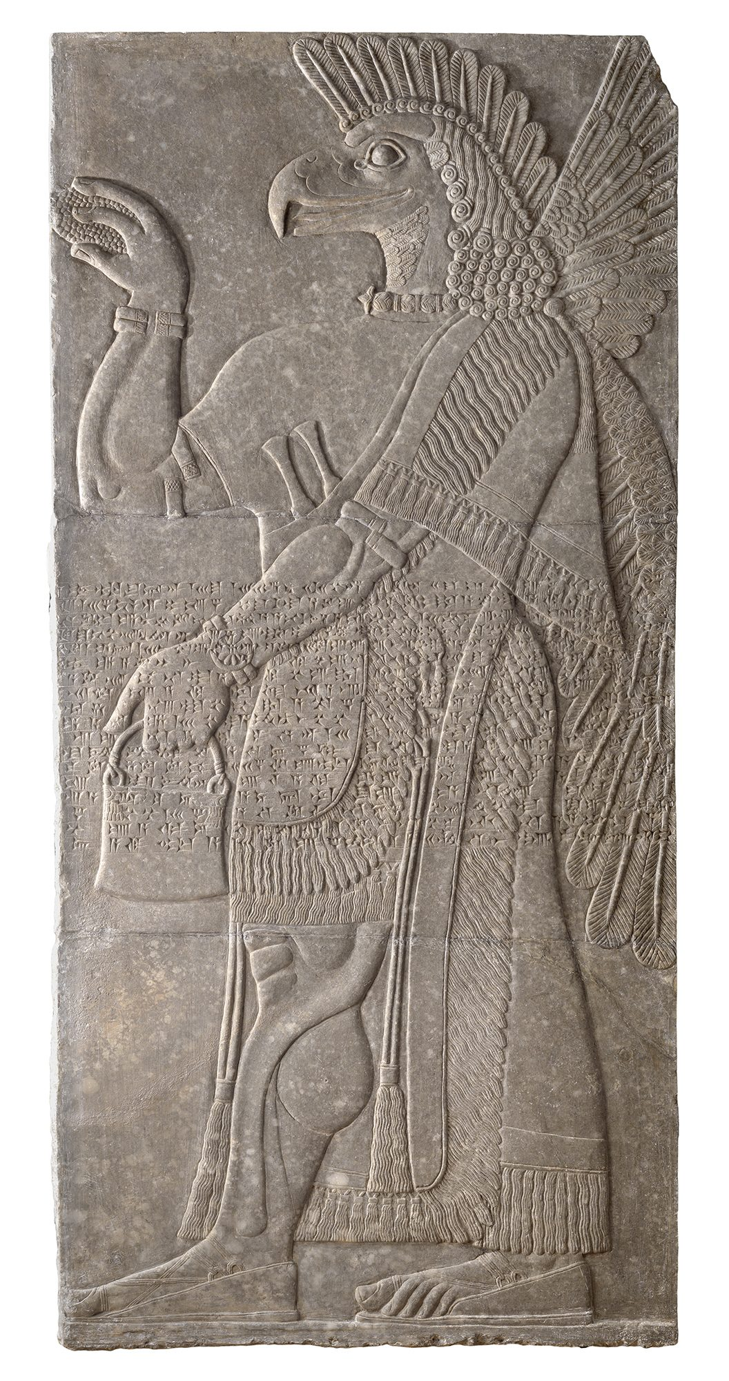 Winged Guardian Spirit from the Northwest Palace of Ashurnasirpal II, ca. 880 BC. Gypsum. Gift of Sir Austen Henry Layard through Dwight W. Marsh, Class of 1842, 1851.2