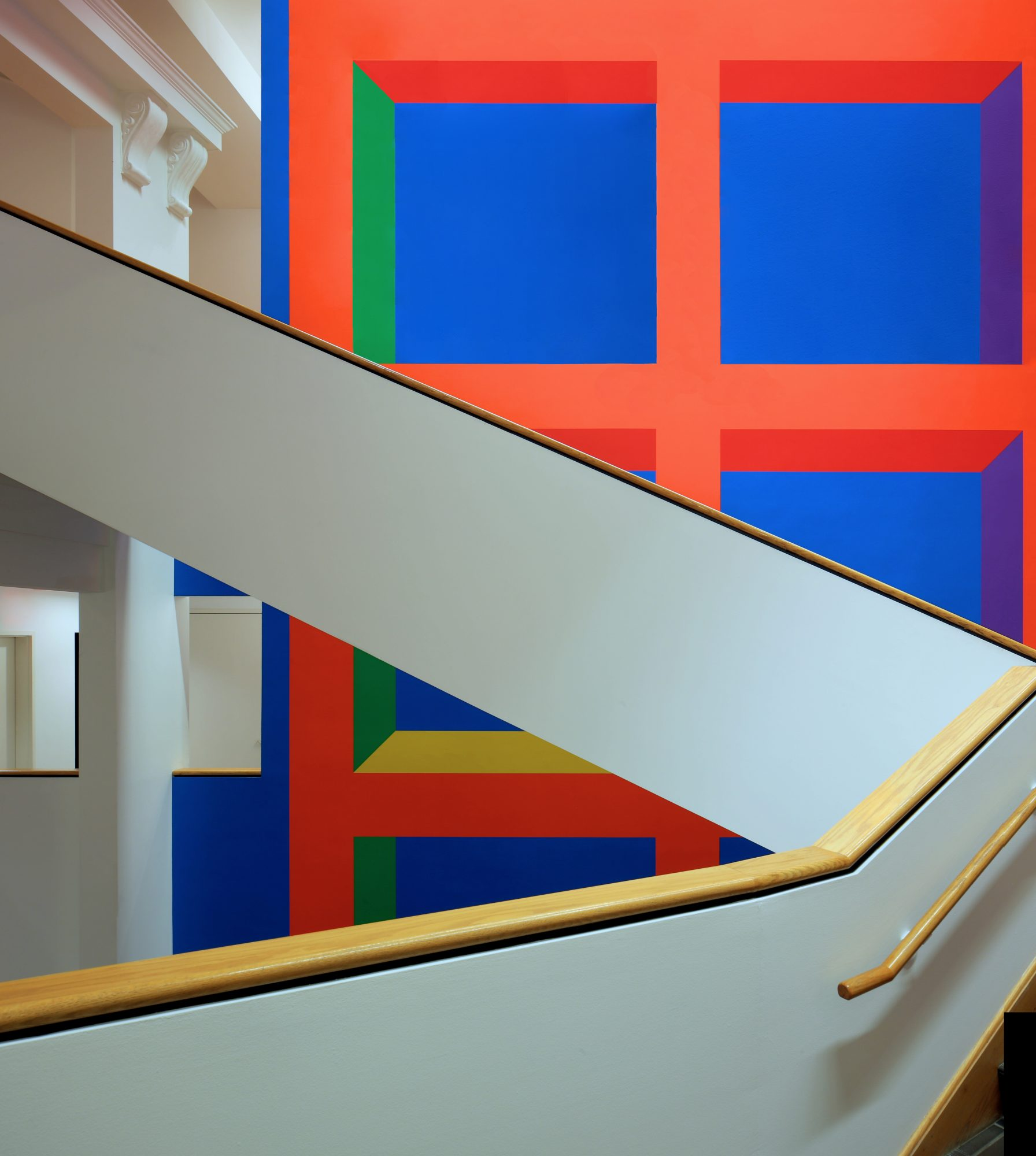 Sol LeWitt, Wall Drawing #1089, Installed in WCMA atrium 2015.