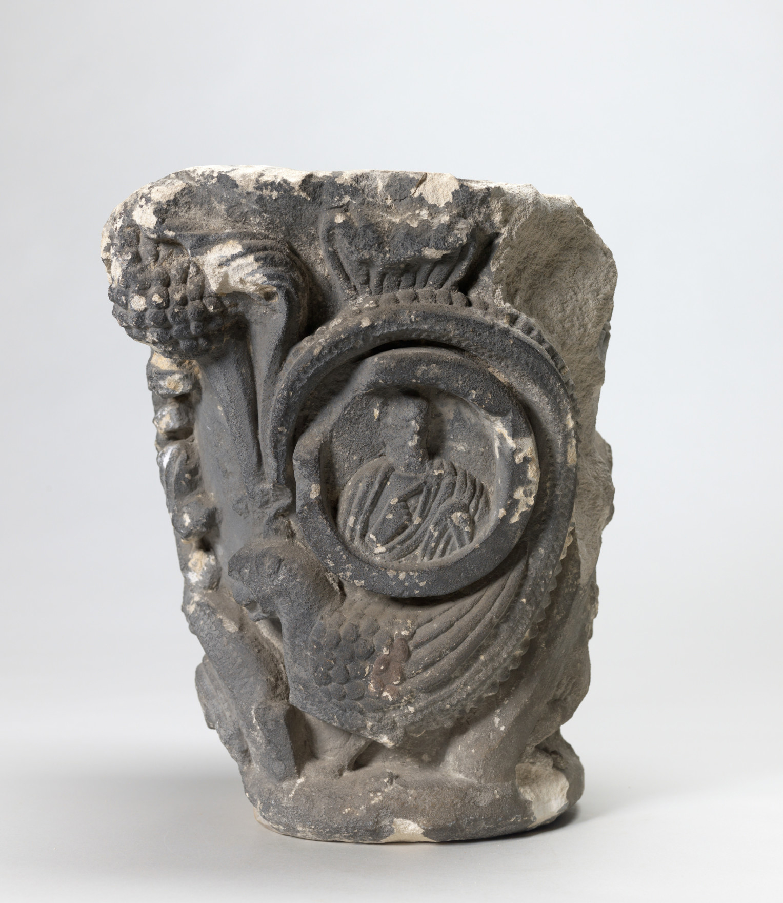Romanesque Capital. French, 12th century. Limestone. Gift of James J. Rorimer, 49.5