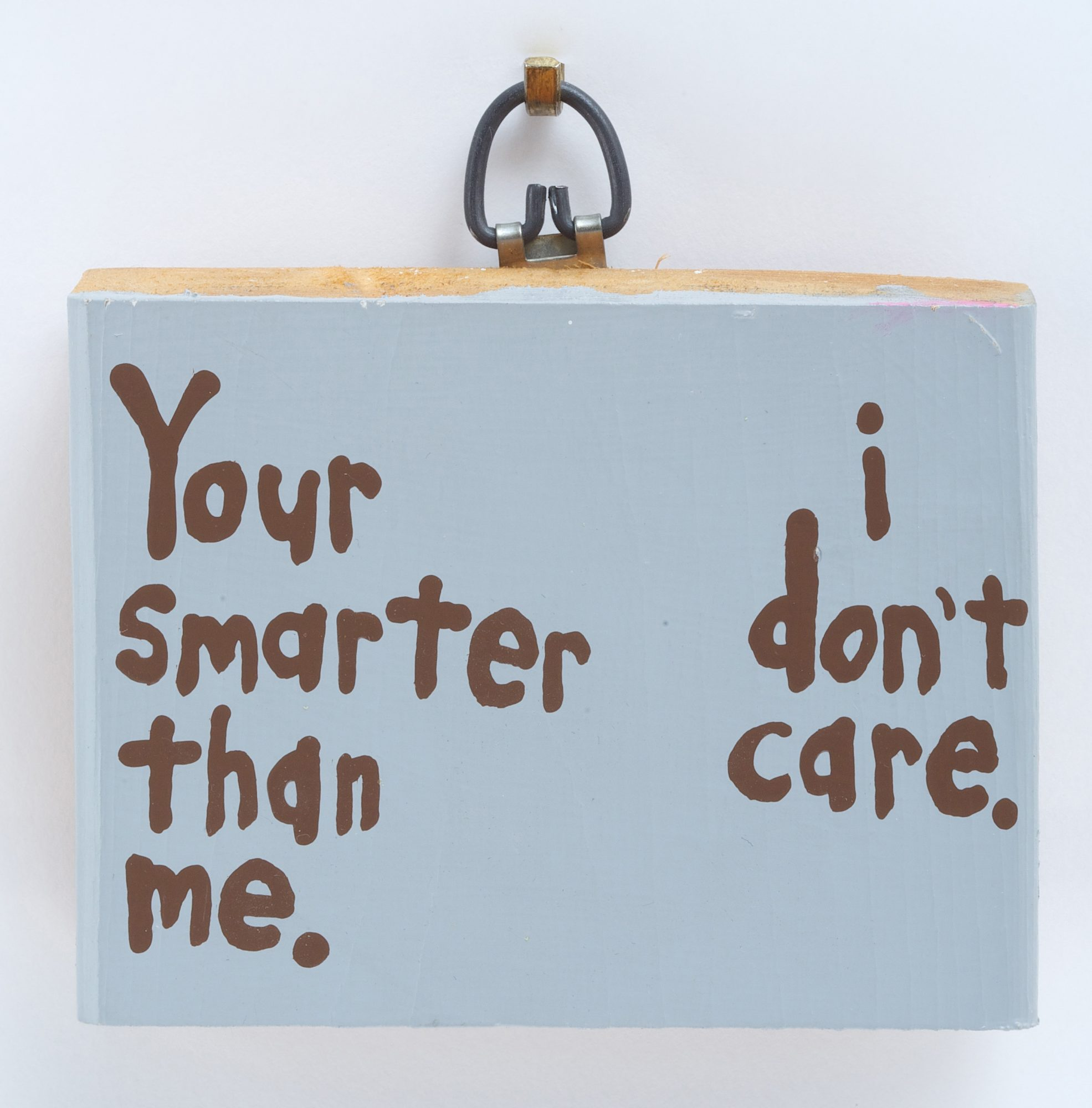 Cary S. Leibowitz (American, b. 1963) Your smarter than me. i don't care