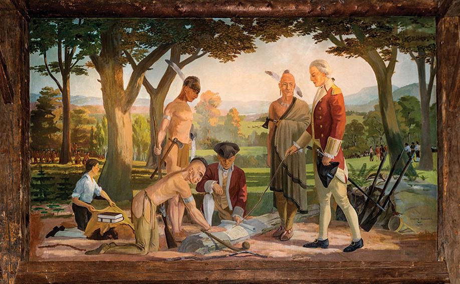 Log mural