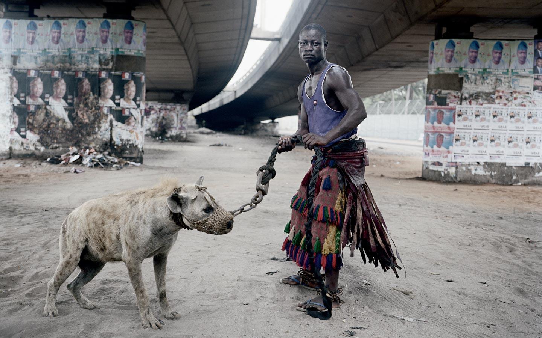 Pieter Hugo (South African, b. 1976) Abdullahi Mohammed with Mainasara, Lagos, Nigeria (from the series