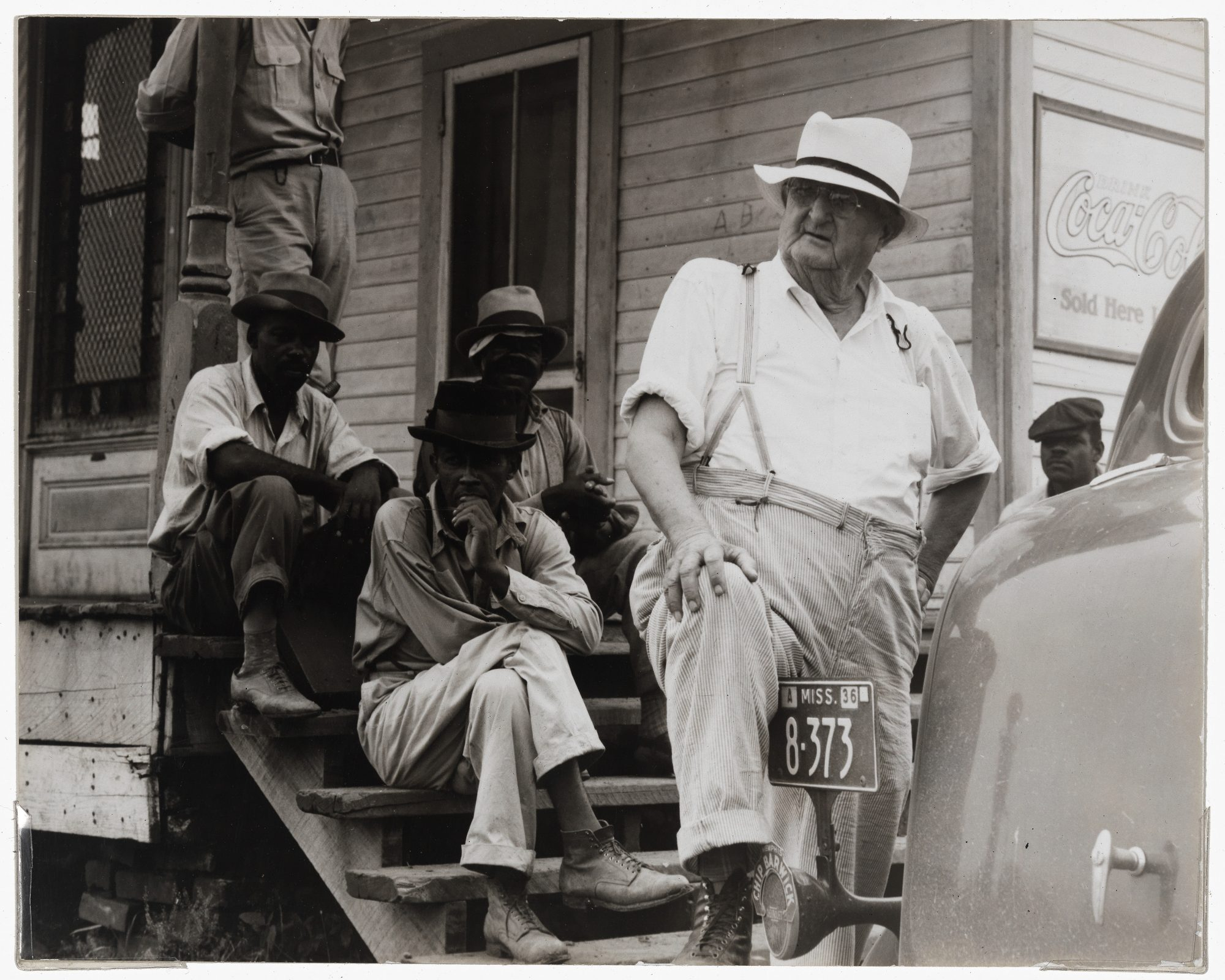Dorothea Lange (American, 1895–1965) Plantation owner, Mississippi Delta, near Clarksdale, Miss., June 1936. Gelatin silver print, 7 1/2 x 9 3/8 in. Museum purchase, Karl E. Weston Memorial Fund, 77.43.12