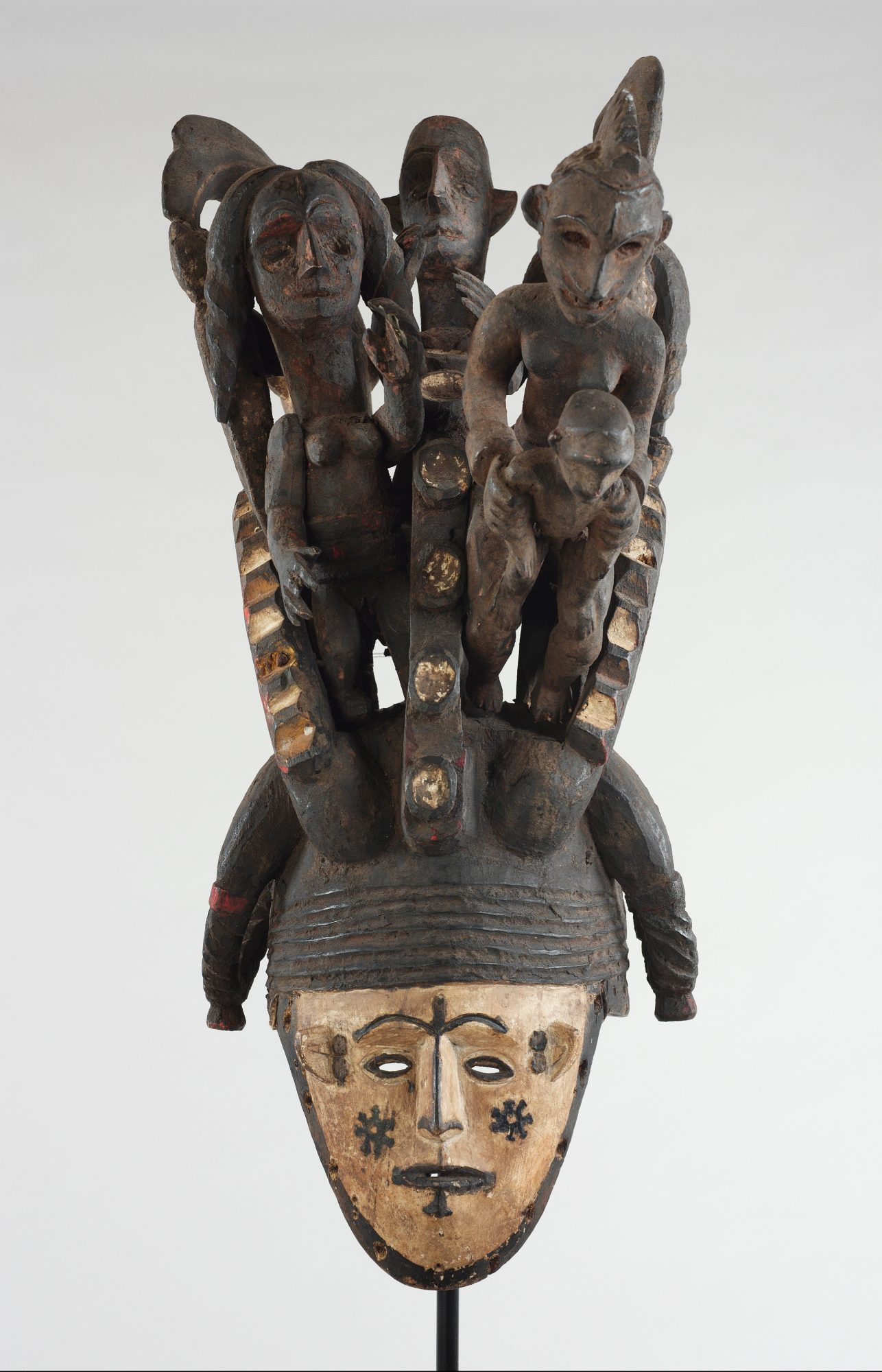 Igbo people. Ikorodo Mask, c. 1920–1950. Wood, 34 1/2 x 10 x 18 in. Gift of Dr. Oliver E. and Pamela F. Cobb, Class of 1952, M.2007.1.2