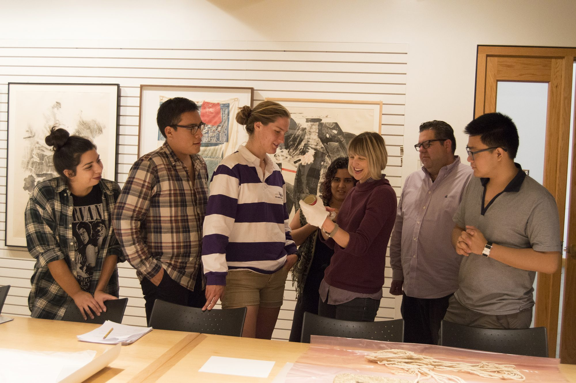Photo of a class in the Rose Study Gallery.