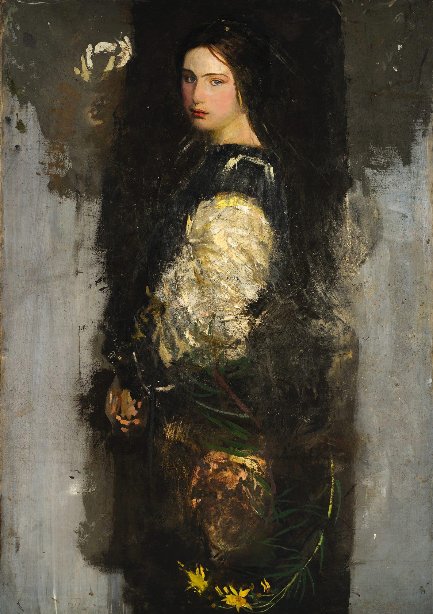 Abbott Handerson Thayer (American, 1849–1921) Study of Alma Wollerman (Mrs. Gerald Thayer)