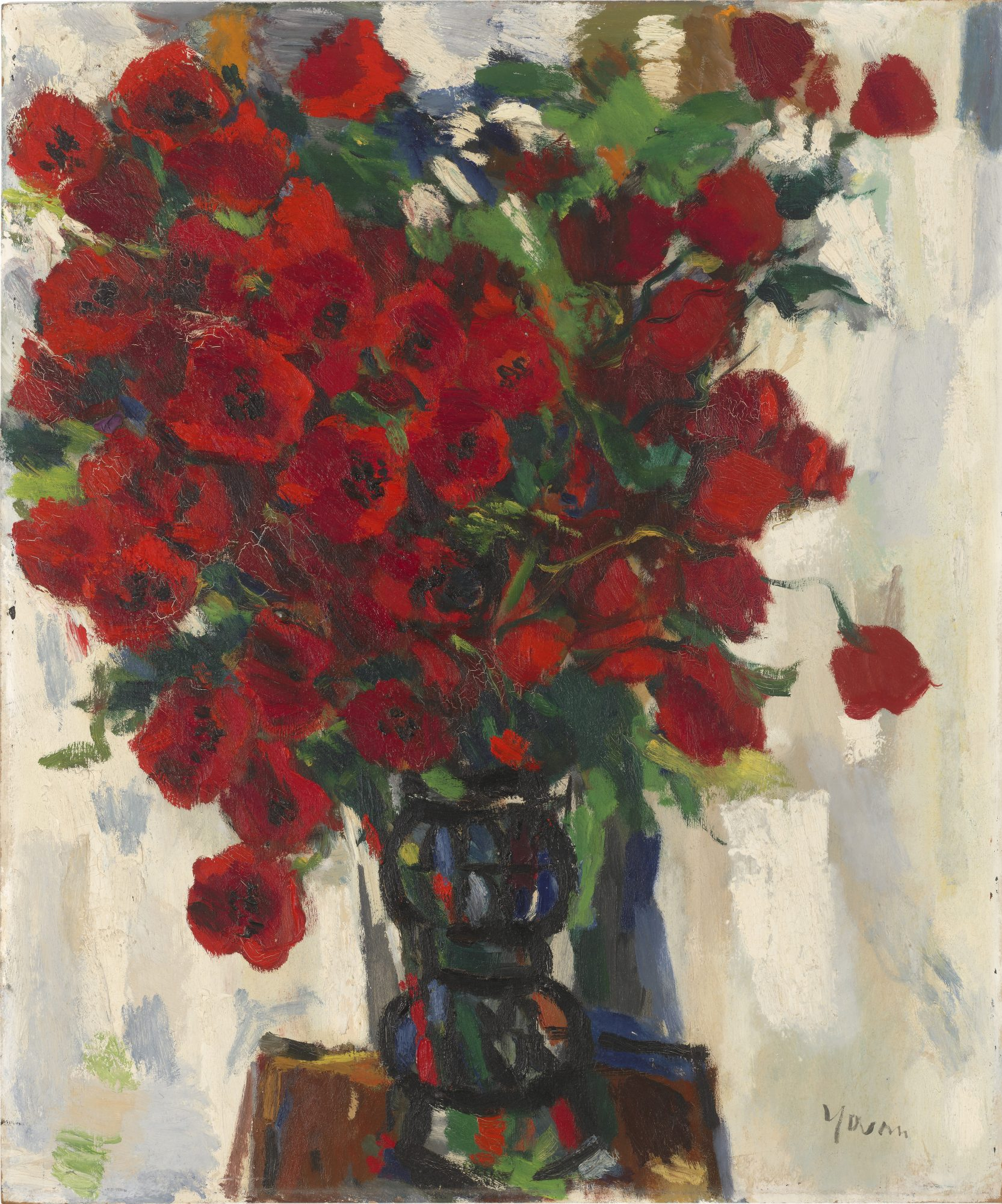 Yovan Radenkovitch (American, born Serbia, 1903–1979) Flower Piece-Poppies, After 1950. Oil on board. Gift of Mr. Seward Eric, 60.40