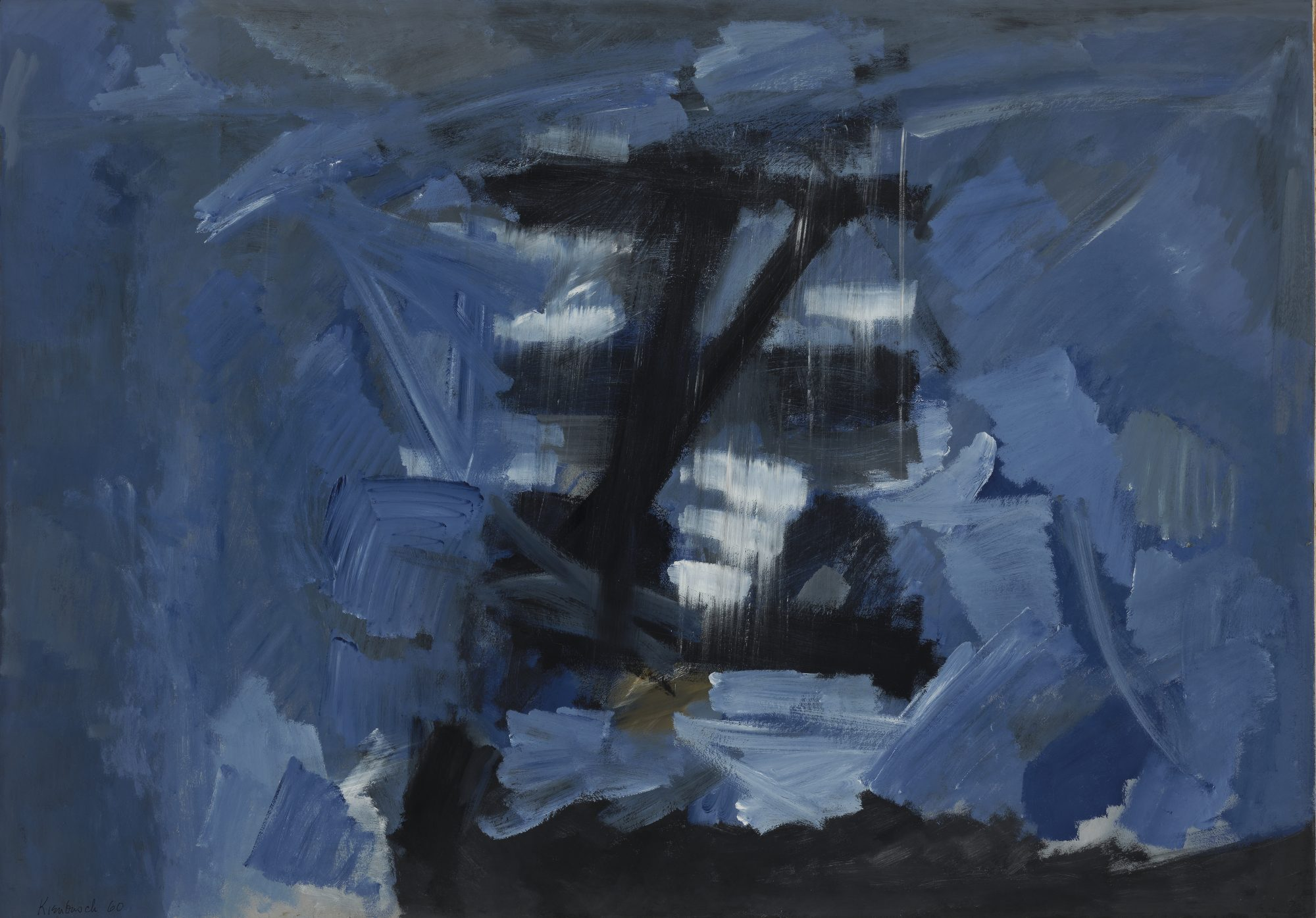 William Austin Kienbusch (American, 1914–1980) Sea Light, Casein on paper, 1960. Gift of Barry Benepe, Class of 1950, 61.18