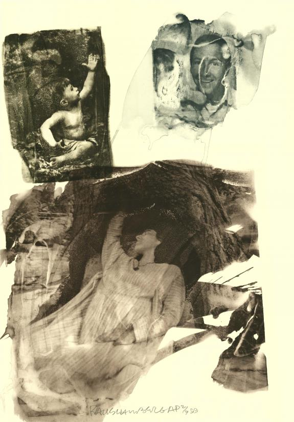 Robert Rauschenberg (American, 1925–2008) 'topher (Ruminations), 1999. Intaglio, 39.25 x 27.5 in. From an edition of 46, published by Universal Limited Art Editions, West Islip, New York, RRF 99.E009