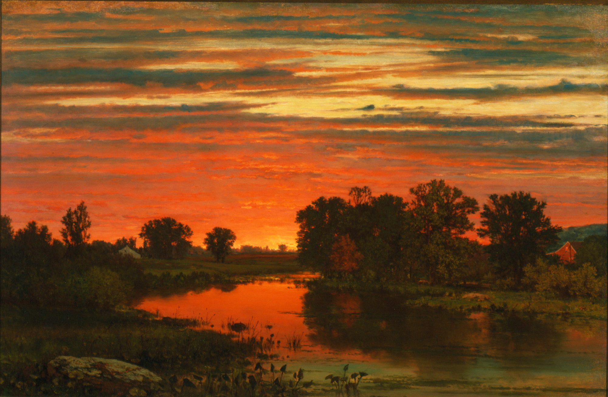 George Inness (American, 1825–1894) Twilight, c. 1860. Oil on canvas. Gift of Cyrus P. Smith, Class of 1918, in memory of his father, B. Herbert Smith, Class of 1885, 79.66