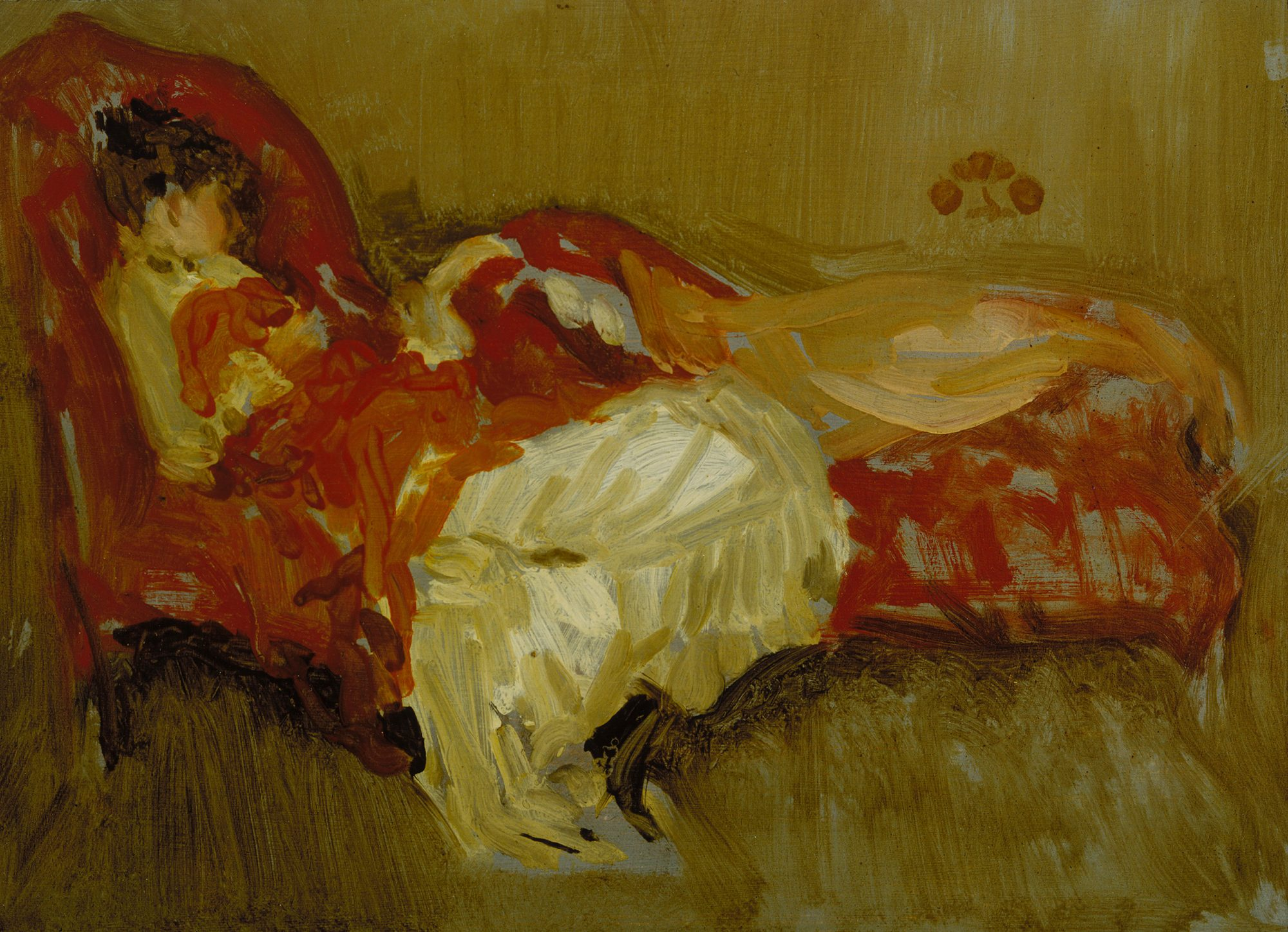 James Abbott McNeill Whistler, Note in Red: The Siesta, before 1884. Daniel J. Terra Collection. Terra Foundation for American Art, Chicago / Art Resource, NY.