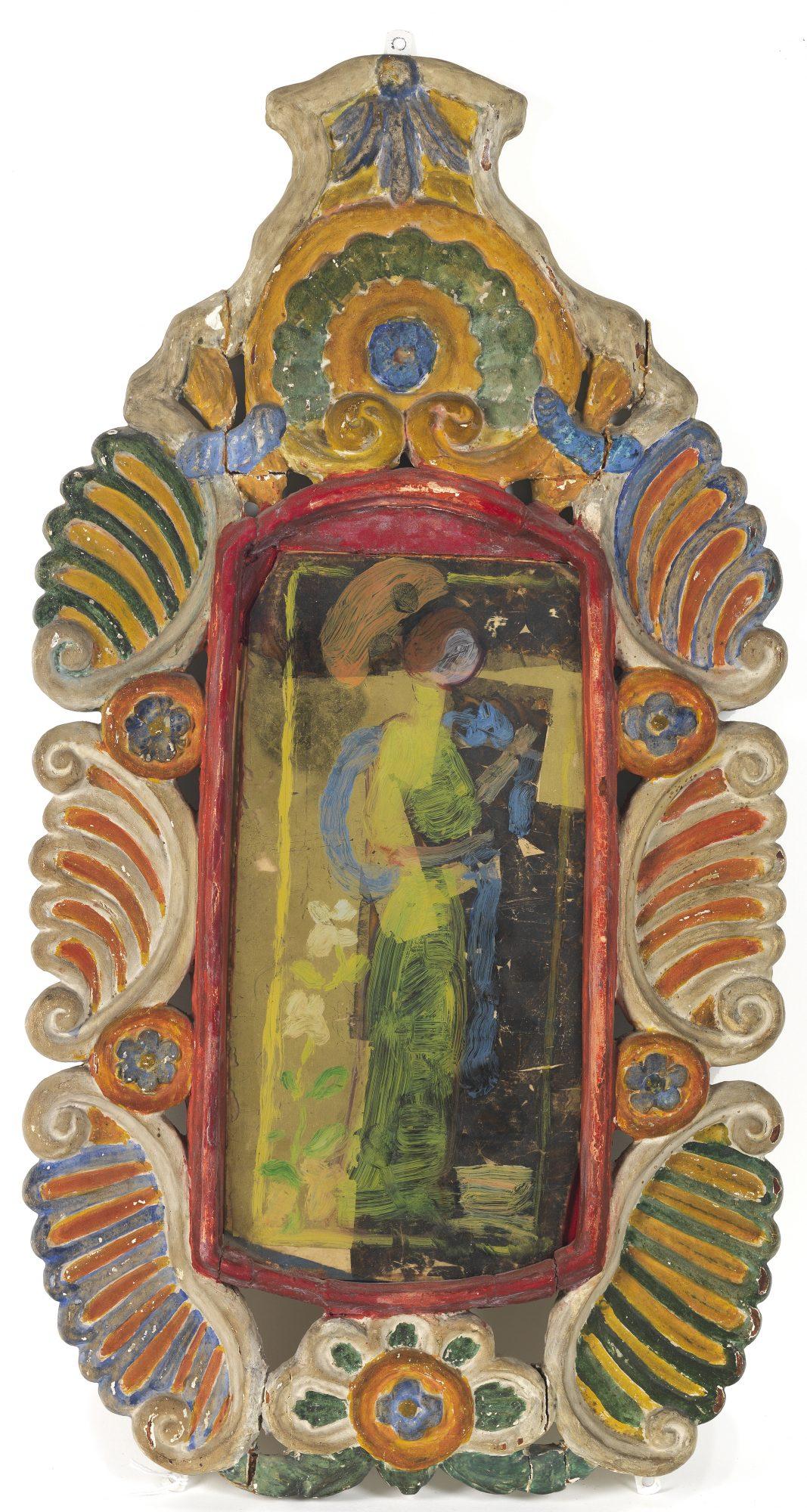 Maurice Brazil Prendergast (American, 1858-1924) Charles Prendergast (American, 1863–1948) Painting on Glass, Frame by Charles Prendergast, c. 1912–1917. Painting on glass, 21 1/4 x 11 1/2 in. Gift of Mrs. Charles Prendergast, 86.18.21