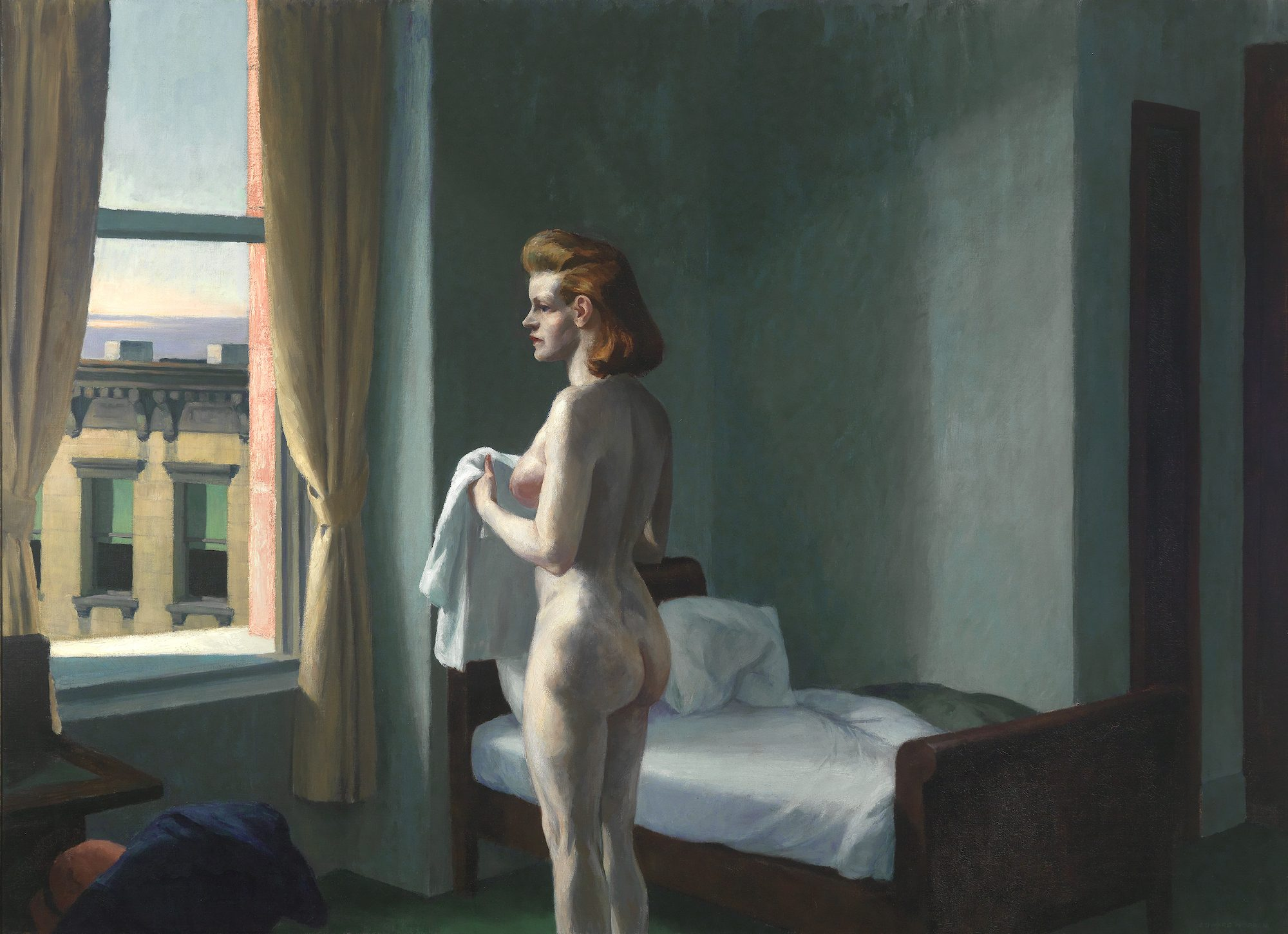 Edward Hopper (American, 1882–1967) Morning in a City, 1944. Oil on canvas. Bequest of Lawrence H. Bloedel, Class of 1923, 77.9.7