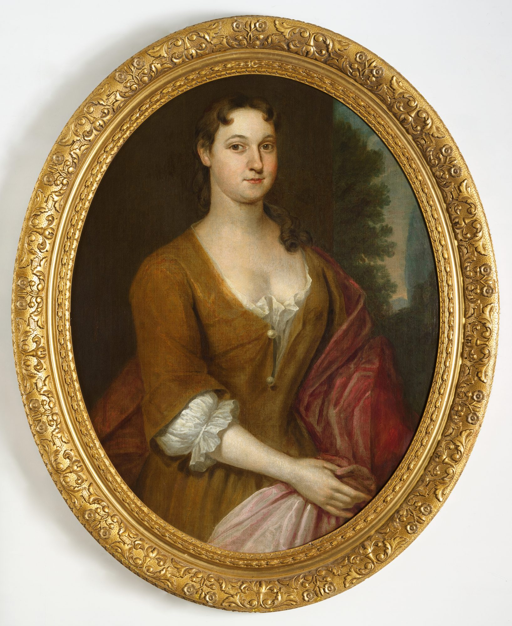 John Smibert (American, 1688–1751) Portrait of Sarah Belcher Lyde, c. 1735-1743. Oil on canvas. Museum purchase, Joseph O. Eaton Fund, M.2014.3