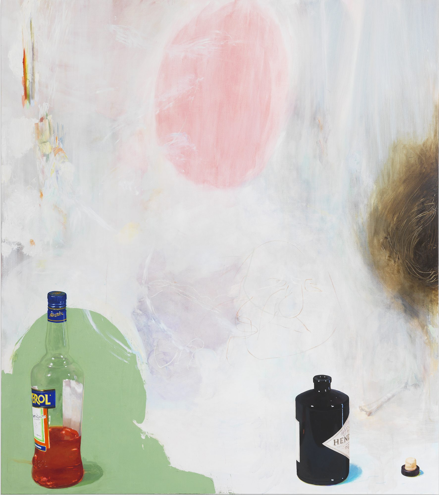 Monika Baer (German, b. 1964) L, 2014. Oil on canvas, 98 5/8 x 86 3/4 x 2 in. Museum purchase, Wachenheim Family Fund, M.2014.16