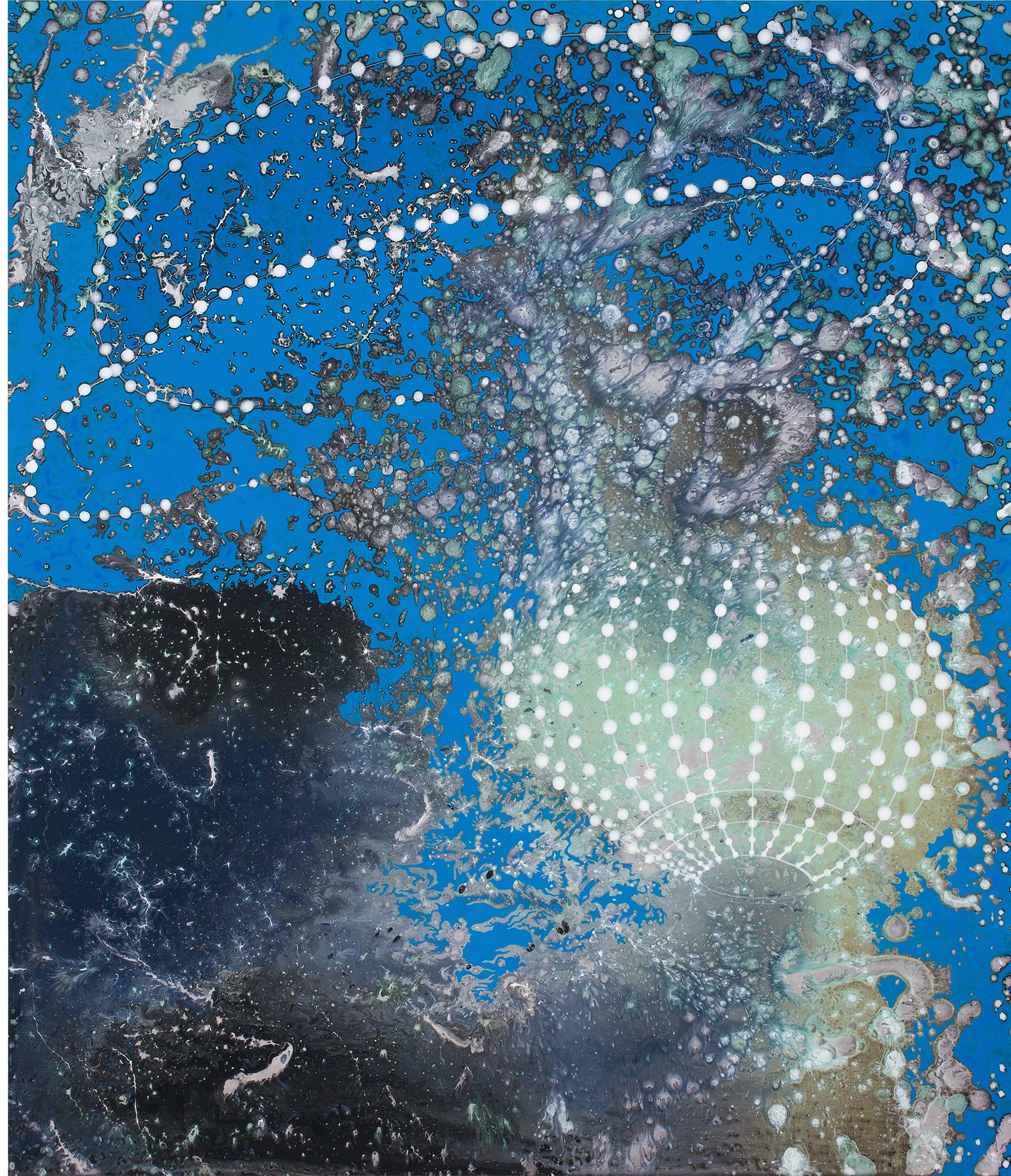 Barbara Takenaga (American, b. 1949) Green Light, 2013. Acrylic on linen, 42 x 36 in. Collection of Bruce and Donna Polichar