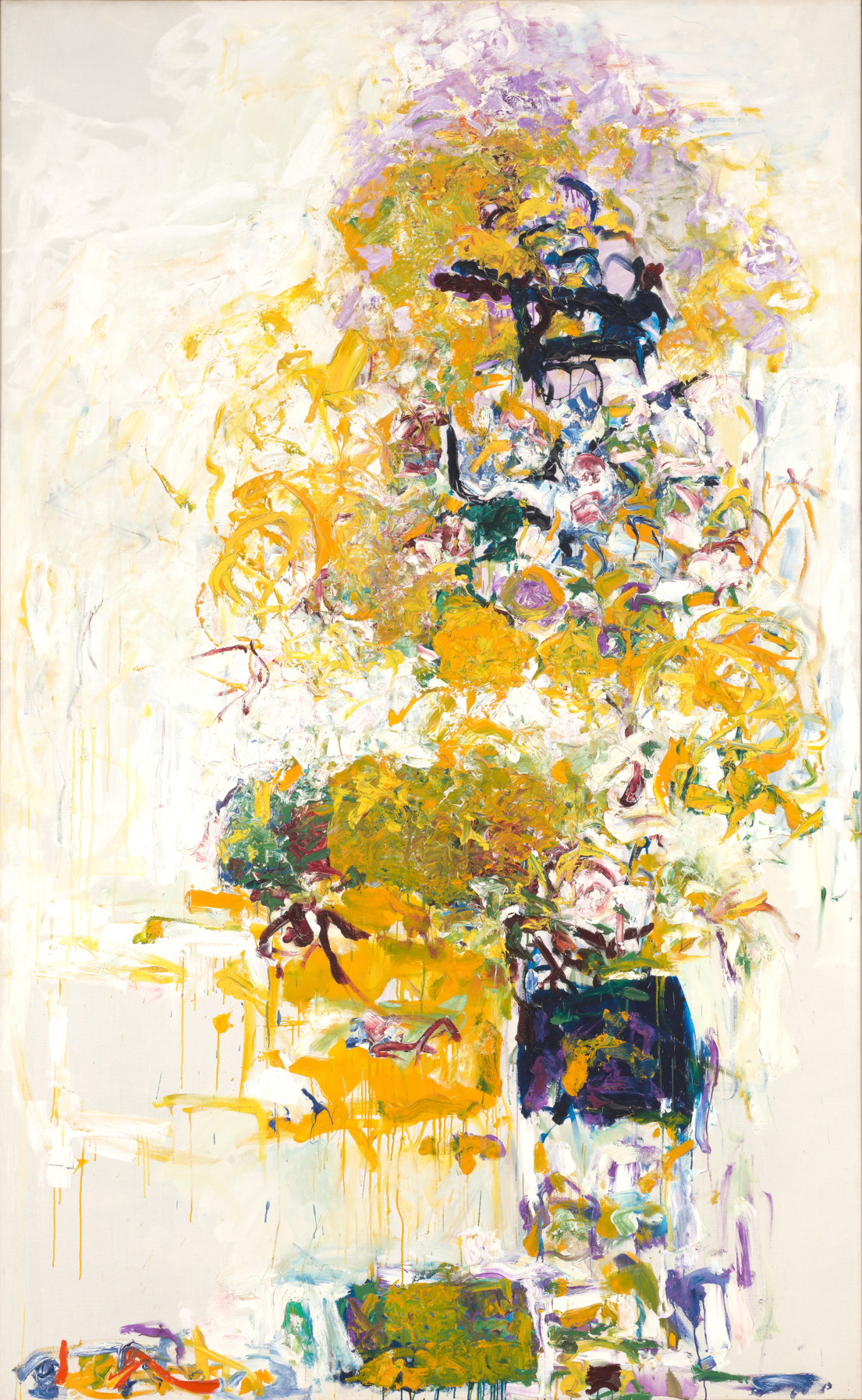 Joan Mitchell (American, 1925-1992) Sunflower VI 1969. Oil on canvas, 102 1/4 x 63 1/4 in. Anonymous gift, in tribute to Linda Shearer and her late husband Hartley Shearer, M.2012.19