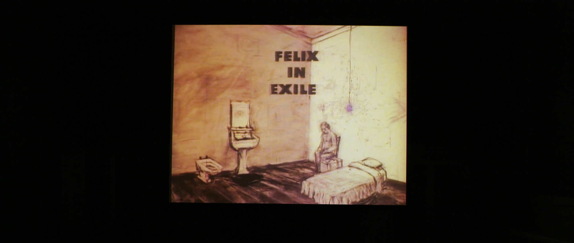 Felix in Exile, installation photo by Arthur Evans.