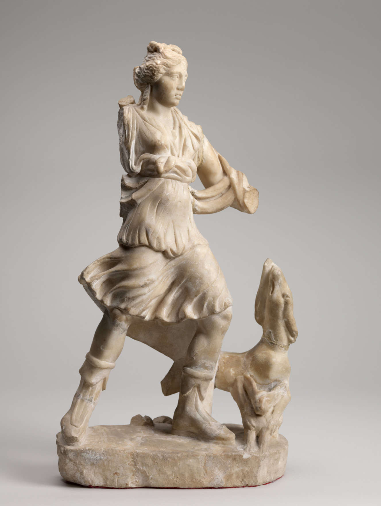 Roman, Artemis, 150-199 AD. Marble, 1 x 10 5/8 x 6 1/8 in. Gift of the son and daughters of Charles Bolles Bolles-Rogers, Class of 1907: Frederick Van D. Rogers, Mary Rogers Savage, and Nancy Rogers Pierson, 76.37.28.
