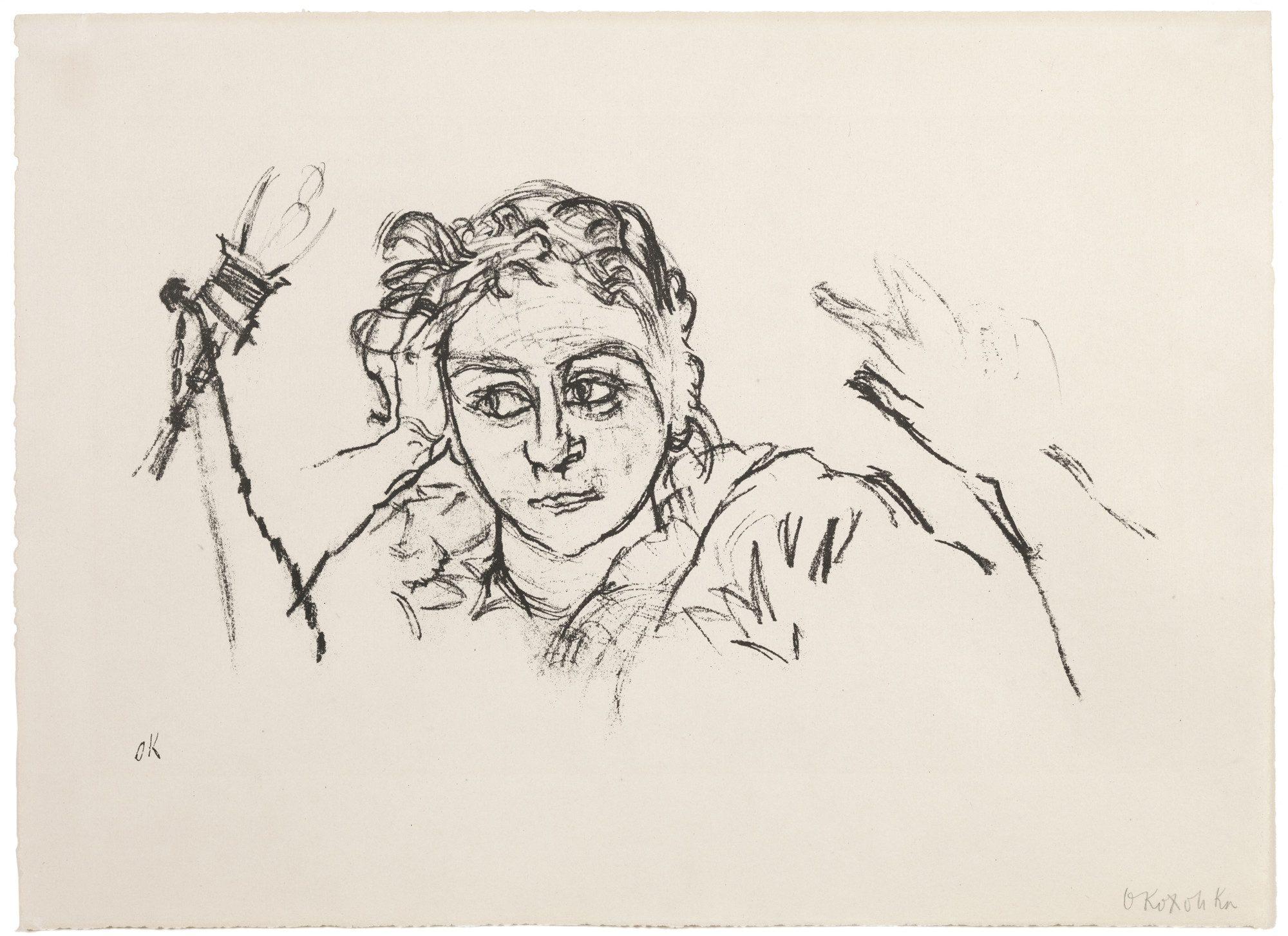Oskar Kokoschka (Austrian, 1886–1980) Das Reine Gesicht (The Clear Face), 1913. Lithograph, 14 x 20 in. Gift of Madeleine P. and Harvey R. Plonsker, Class of 1961, M.2015.25.5