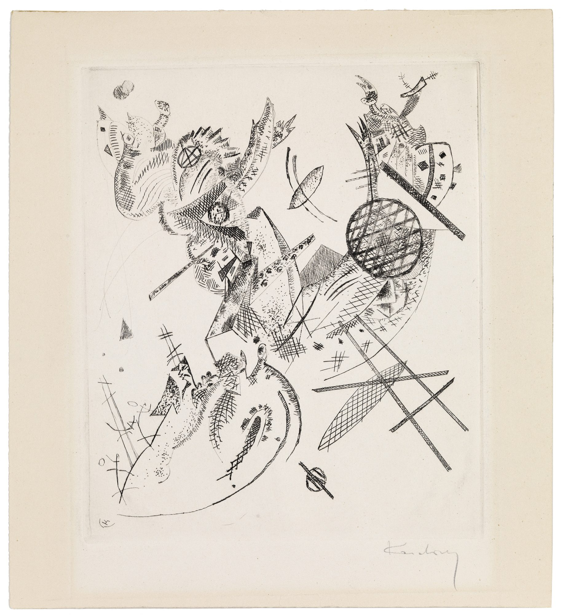 Wassily Kandinsky (Russian, 1866–1944) Kleine Welten XII (Small Worlds XII), 1922. Drypoint, 9 1/4 x 7 1/2 in. Gift of Madeleine P. and Harvey R. Plonsker, Class of 1961, M.2016.26.28