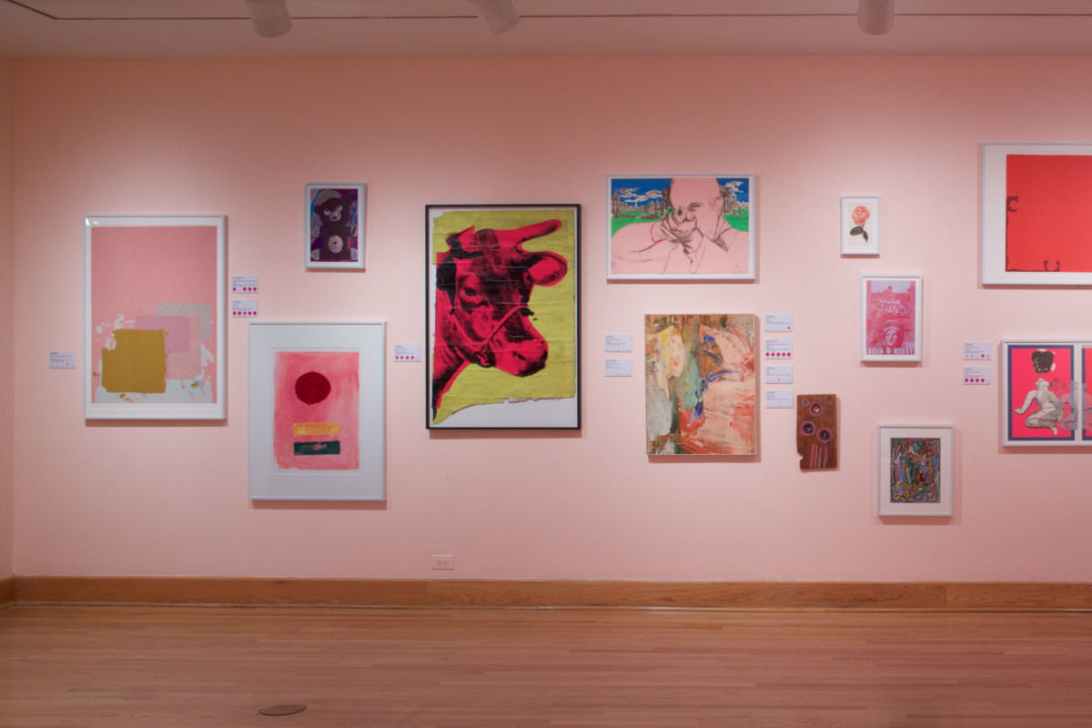 Pink Art installation view 2017, Photo by Arthur Evans