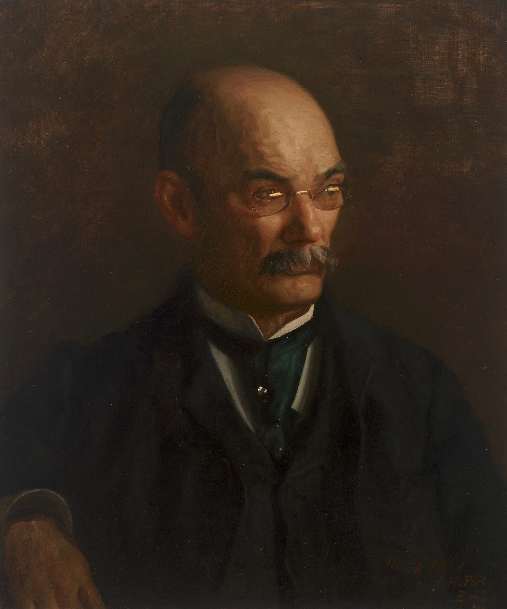 Thomas Eakins, (American, 1844-1916), Portrait of John Neil Fort, 1898. Oil on canvas, 24 x 20 1/16 in. Bequest of Lawrence H. Bloedel, Class of 1923, 77.9.115.