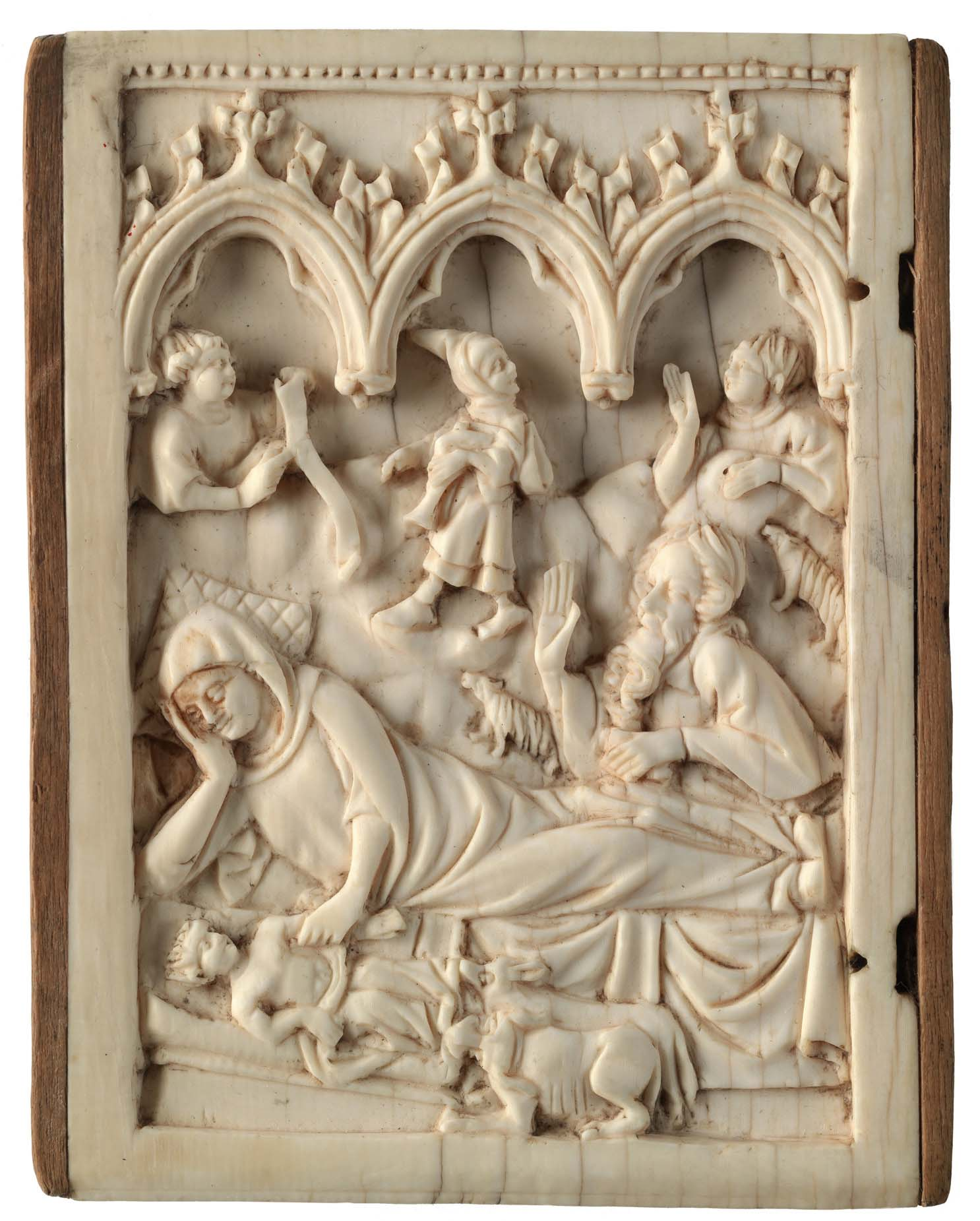 French. The Nativity, 15th century. Ivory, 3 1/8 x 2 1/4 in. Bequest of Frank Jewett Mather, Jr., Class of 1889, 57.25