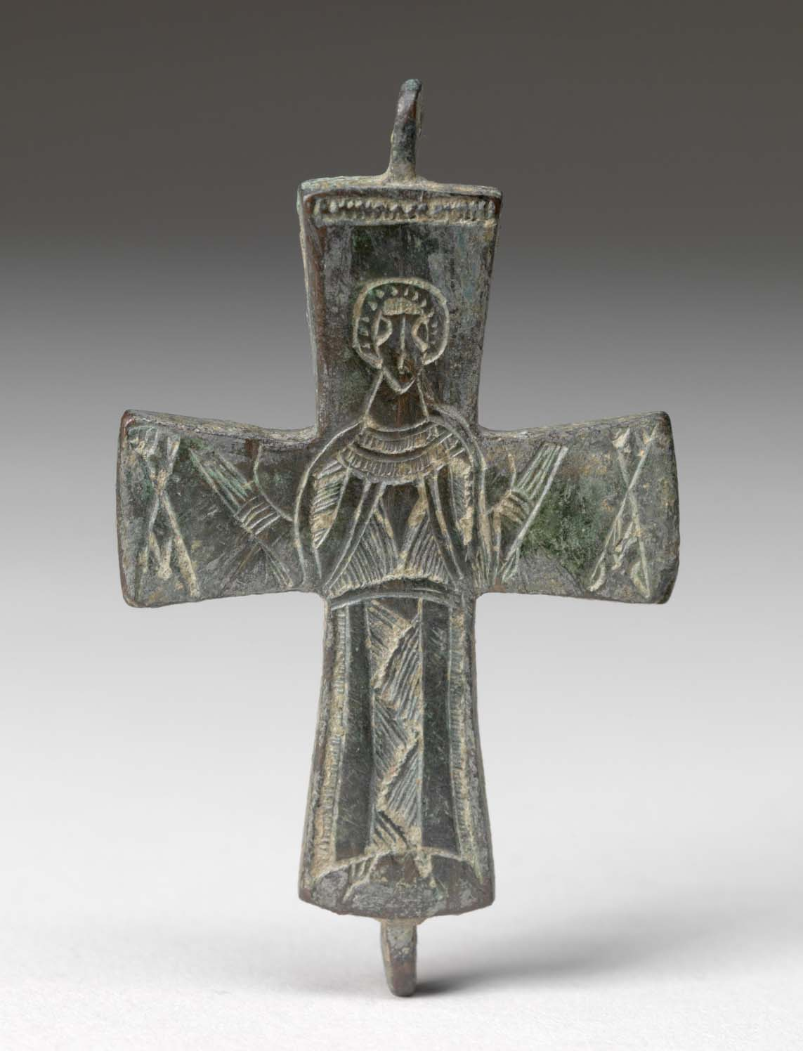 Byzantine. Cross, 6th century. Bronze, 3 x 1 7/8 in., 3/16 in. Gift of John Davis Hatch V, 84.32.3