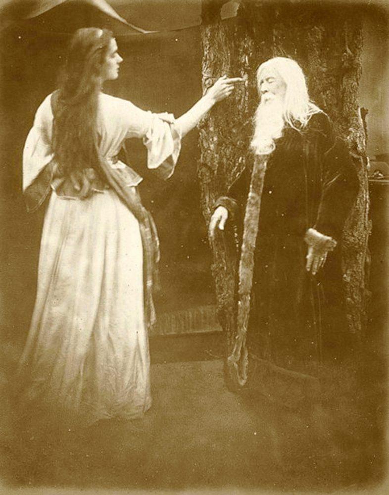 Julia Margaret Cameron (British, 1815-1879), Vivien & Merlin, 1874, albumen print, Museum purchase, Ruth Sabin Weston Fund, © Julia Margaret Cameron Trust. (76.22)