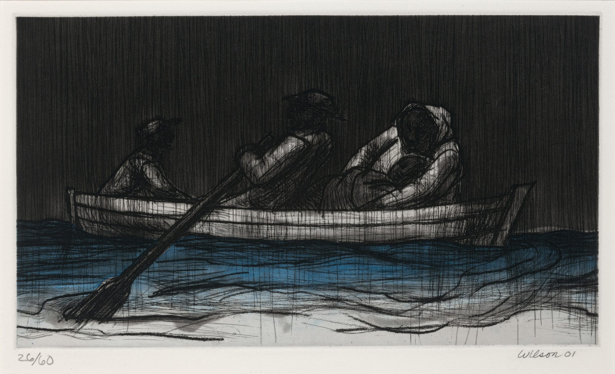 John Wilson (American b. 1922), The Richard Wright Suite, 2001. Etching, aquatint, 11 7/8 x 16 in. Museum purchase, Mather Bequest Fund. M.2003.2.4