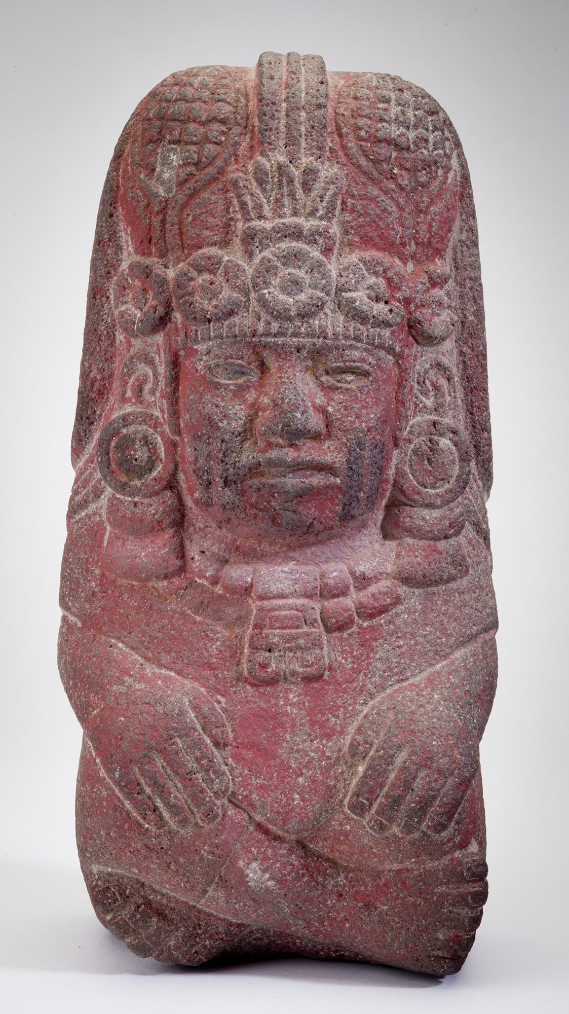 Aztec, Mexico,Fertility Goddess, 1450–1521 CE, stone, 313 3/8 x 6 5/8 x 4 5/8 in. Worcester Art Museum, Museum Purchase, 1957.143. Photo credit: Image © 2017 Worcester Art Museum, all rights reserved.