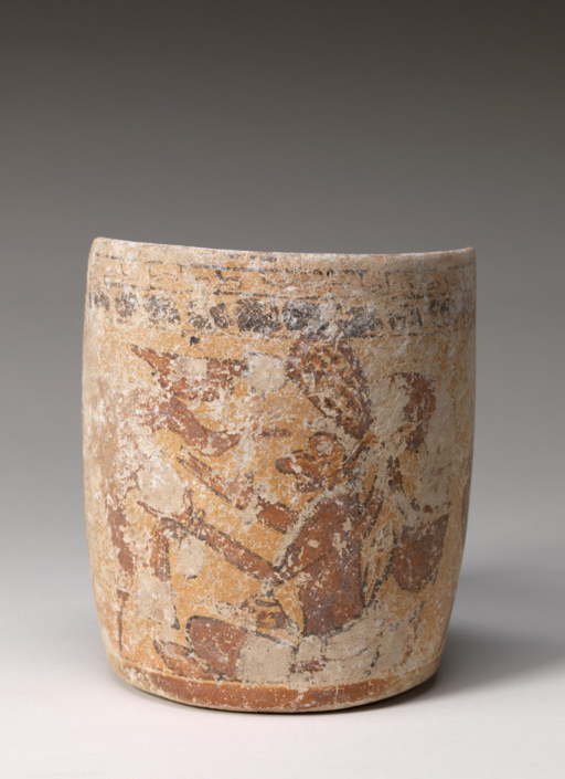 Southern Campeche ,Mexican ,Mayan Pot, Late Classic, 600-900 AD , Ceramic Dims Overall: 5 7/8 in. (15 cm), Base: 4 1/2 in. (11.4 cm) Gift of Herbert D. N. Jones, Class of 1914 21.1.11