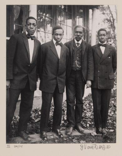 James Augustus Joseph Van Der Zee (American, 1886-1983), The Van Der Zee Men, Lenox, Mass. (from