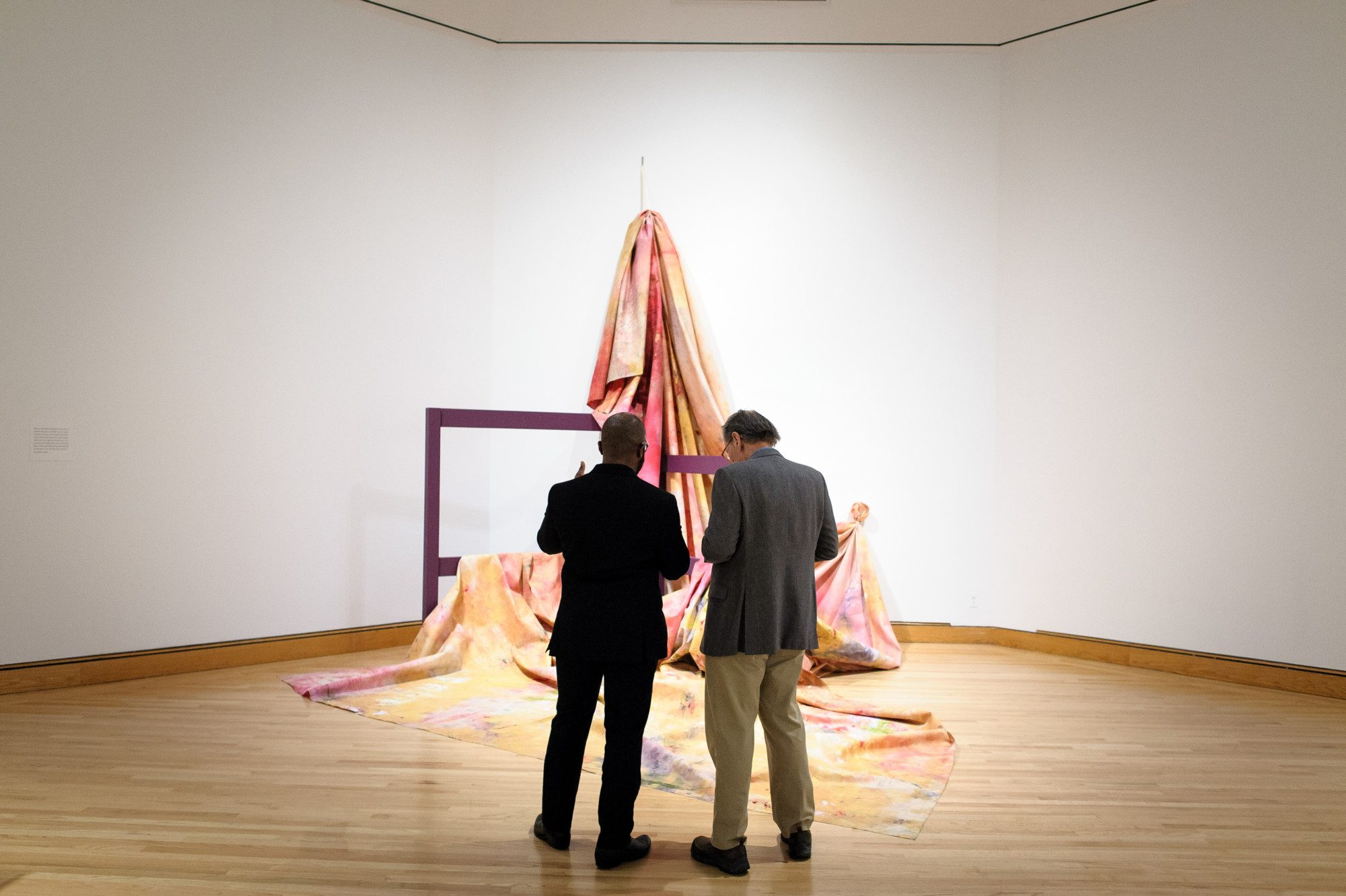 Installation view of Situation VI–Pisces 4, c. 1972 by Sam Gilliam. Photo by Bradley Wakoff.