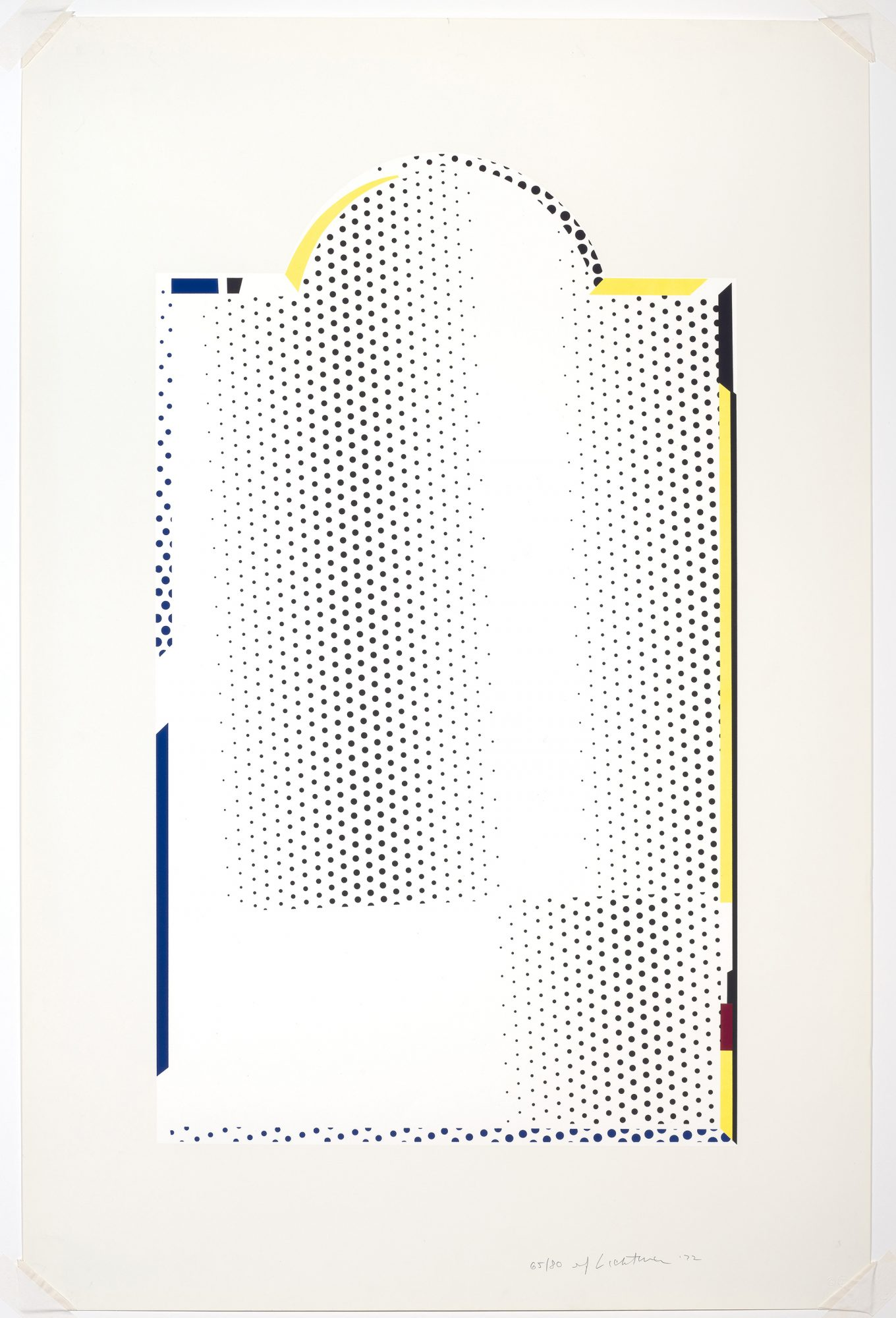 Roy Lichtenstein, Mirror #7, 1972. Color lithograph and silkscreen, 29 1/8 x 17 5/16 in. Gift of Frederick M. Myers, Class of 1943. 81.46.34