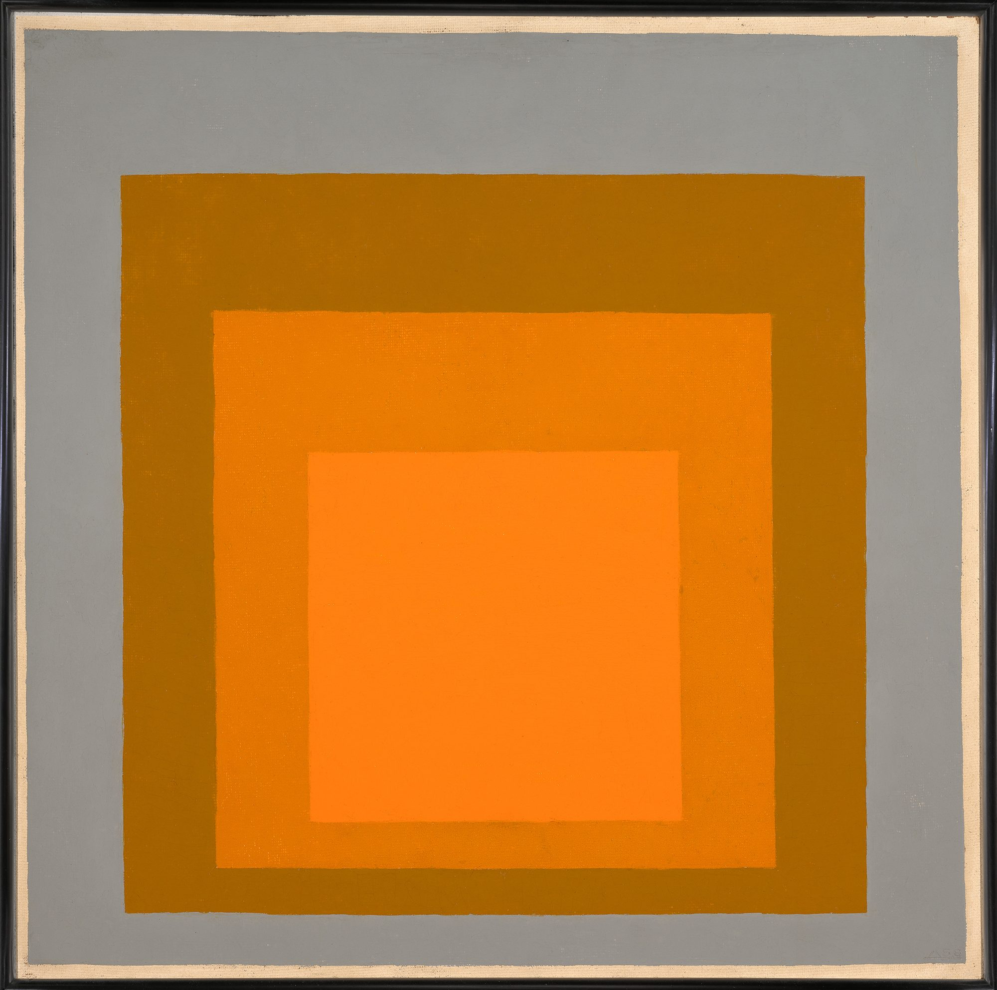 Josef Albers painting Homage to the Square: Warming, 1959 oil on Masonite Overall: 24 x 24 in. (61 x 61 cm) Gift of Jillion and Michael D. Weisberg, Class of 1993 M.2007.13