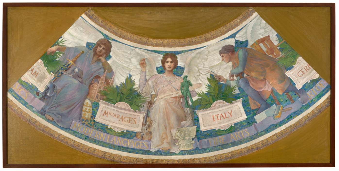 Edwin Howland Blashfield painting Study for the Library of Congress Mural,