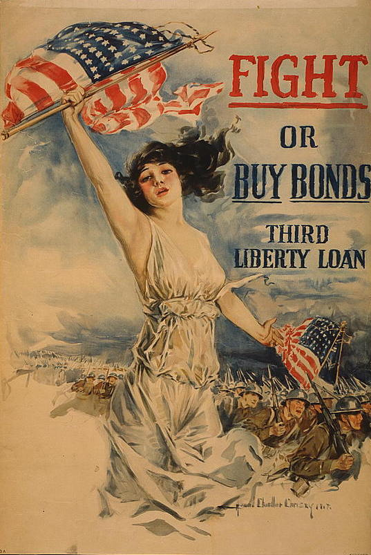 Howard Chandler Christy (American, 1873-1952) Fight or Buy Bonds Third Liberty Loan, 1917 Chromolithograph on paper Anonymous gift 39.1.74