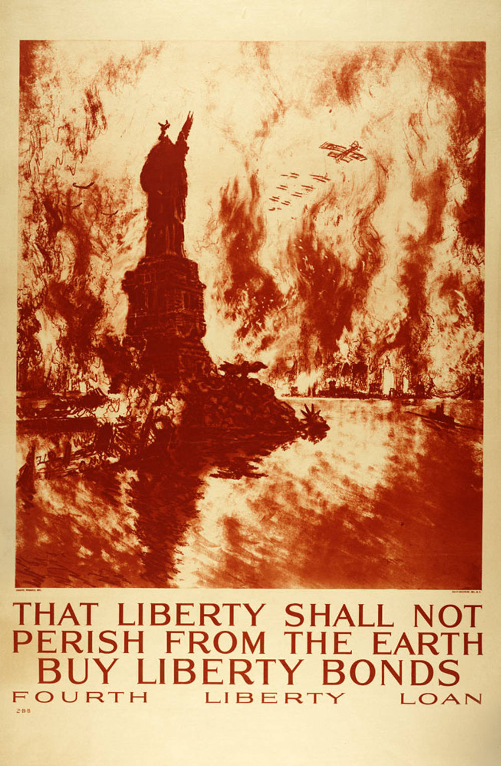 Joseph Penell (American, c. 1860 – 1926) That Liberty Shall Not Perish from the Earth, 1918 Chromolithograph on paper Anonymous gift 39.1.208